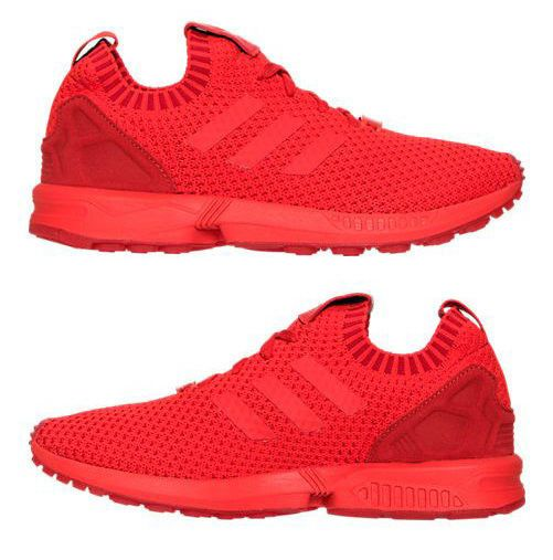 ADIDAS ZX FLUX PRIMEKNIT MEN's CASUAL M RED AUTHENTIC NEW IN BOX SELECT USA SIZE