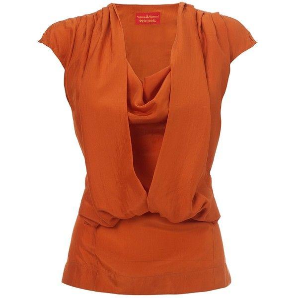 Vivienne Westwood Vivienne Westwood Orange Bluegrass Top ($590) ❤ liked on Polyvore