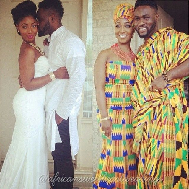 naijagirl:  fckyeahprettyafricans:  Traditional Ghanaian couple Ga tribe Ig afia_mmb  Africans get 2 weddings. And both are awesome! #bejealous