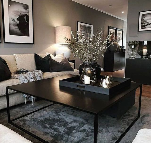 Documenting Inspiration Interiordesign Designinspiration Design Decorating Blackinteri Living Room Decor Apartment Black Living Room Apartment Living Room
