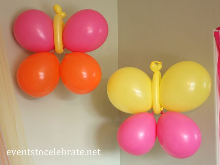 Butterfly Themed Party - DIY Butterfly Balloons - eventstocelebrate.net