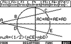 (Screenshot) SAT Operating System for TI-89 graphing calculators. This is one of the circle diagrams available for reference during the SAT test. Raise your SAT test score by 60 points just by using this SAT calculator program DURING the SAT test!
