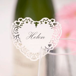 Laser cut personalized place cards. so pretty