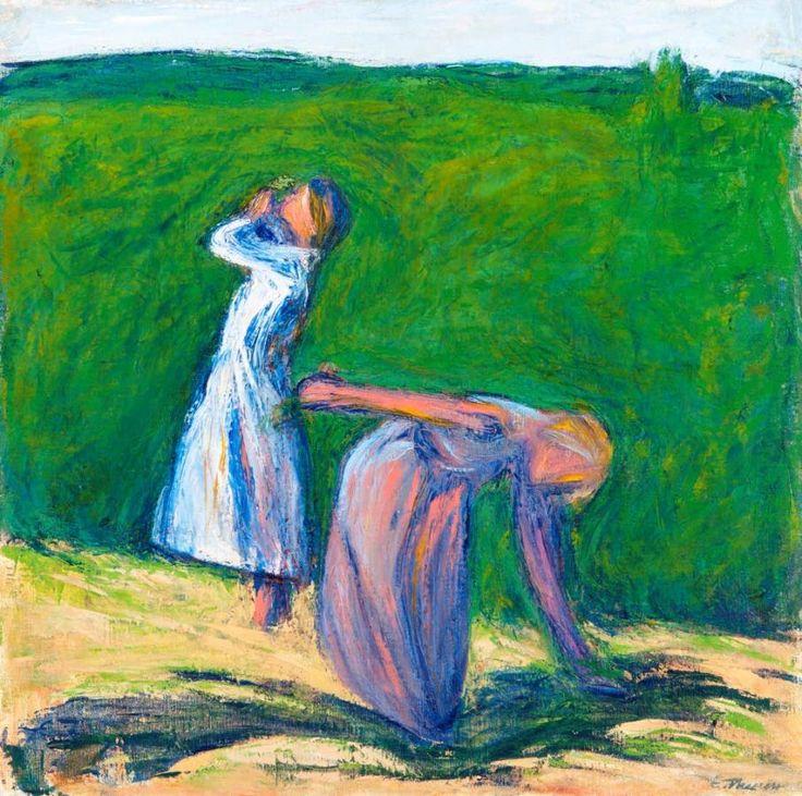 Ellen Thesleff: Tyttöjä (Tytöt niityllä) 1906