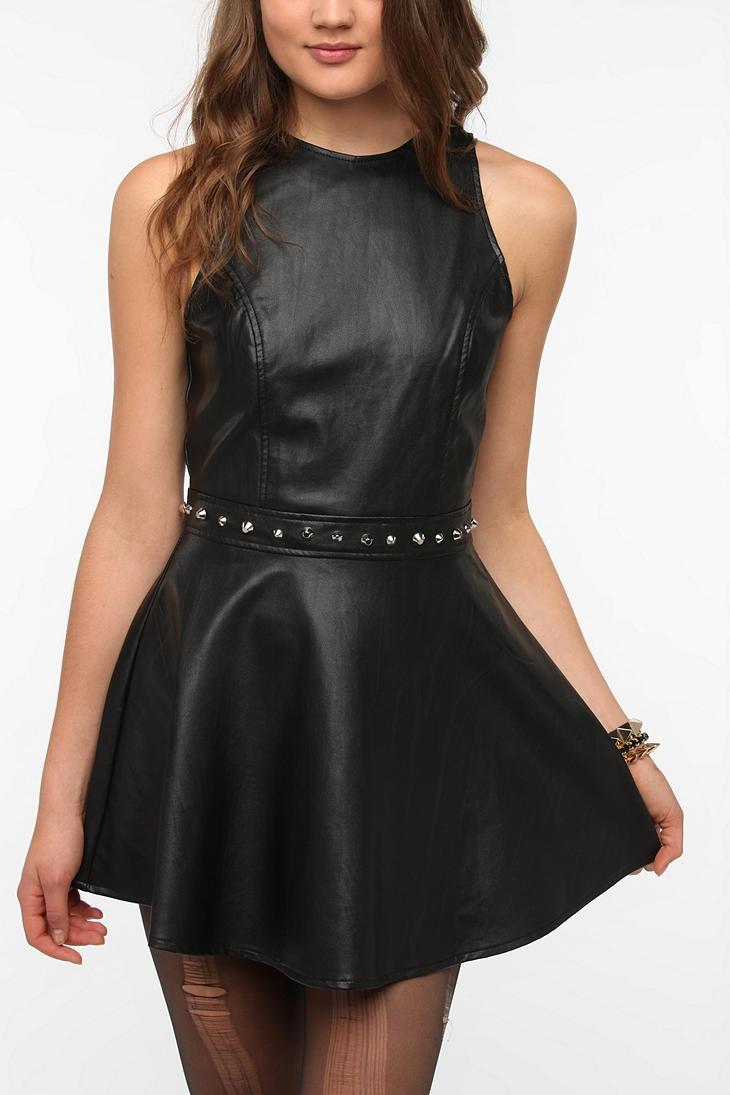 Motel Medusa Faux Leather Studded Dress  #UrbanOutfitters