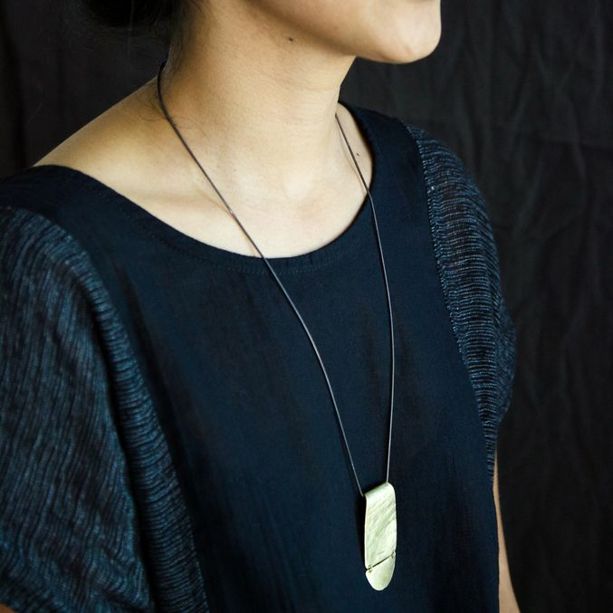 Dover necklace - brass