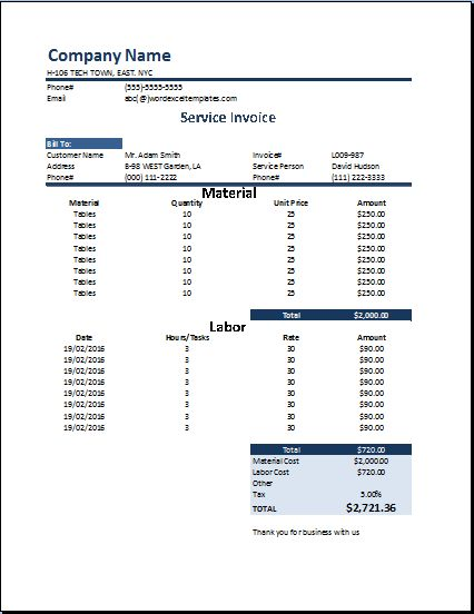 Shipping Invoice Template At WordDocumentsCom  Microsoft