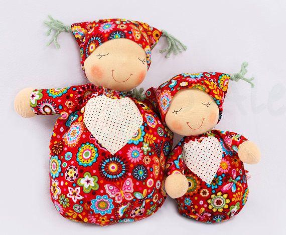 Sleeping baby big size READY TO SHIP  Waldorf custom doll #Waldorfdoll #ragdoll #firstdoll #sleepingfellow #reddoll #giftforgirls #babyshower #Waldorffirstdoll #Waldorfbaba #Aledidolls