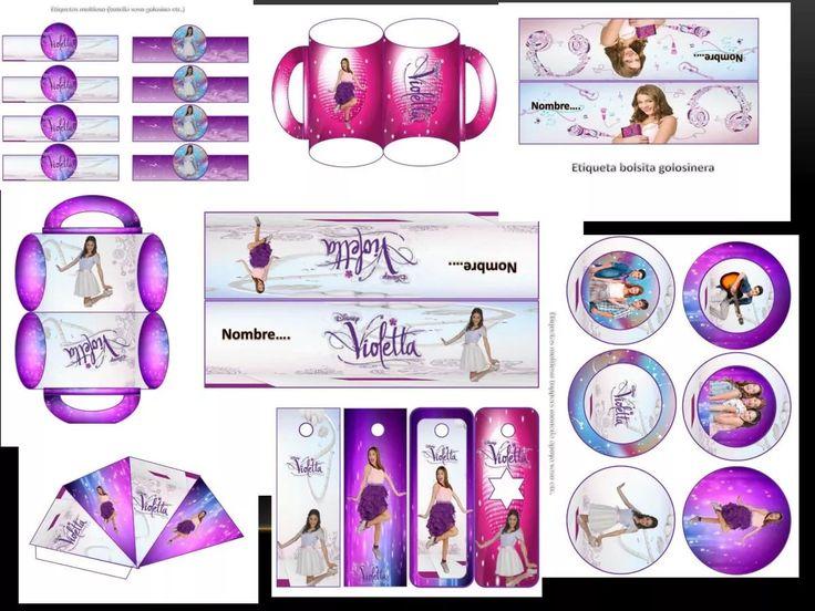 kit imprimible y modificable 100% violetta el mas completo!