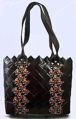 M M Tote Candy Wrapper Brown M M Purse Candy Purse M M Gum Wrapper Bag Eco | eBay