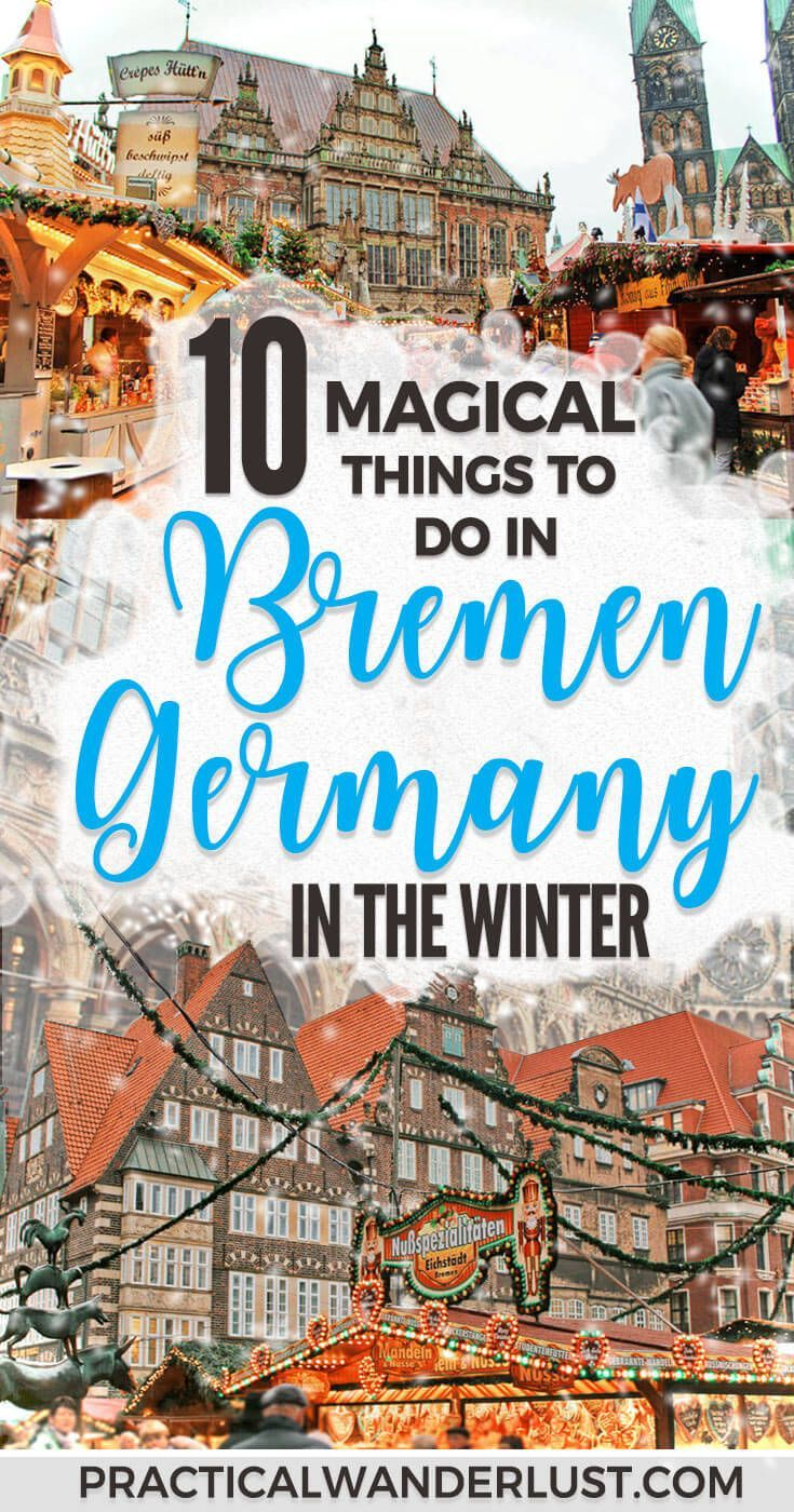 Bremen, Germany in the winter is an adorable fairytale town - literally, it's famous because of a fairytale. From Christmas Markets to German beer, here's 10 things to do in Bremen in winter! #Europe Travel | Winter Travel | Christmas Travel | #Germany | Vacation Destinations | #WinterTravel #Christmas