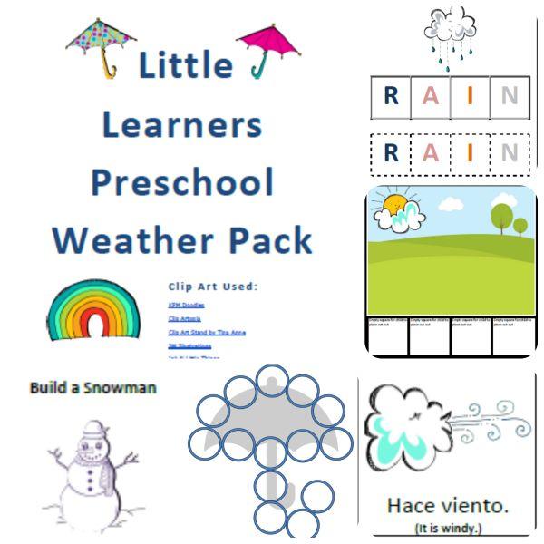 FREE Preschool Weather Pack!