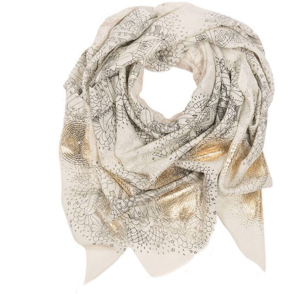 Sophie Darling - The Prairie Wool Scarf (27.175 RUB) ❤ liked on Polyvore featuring accessories, scarves, patterned scarves, woolen scarves, print scarves, holiday scarves and wool shawl