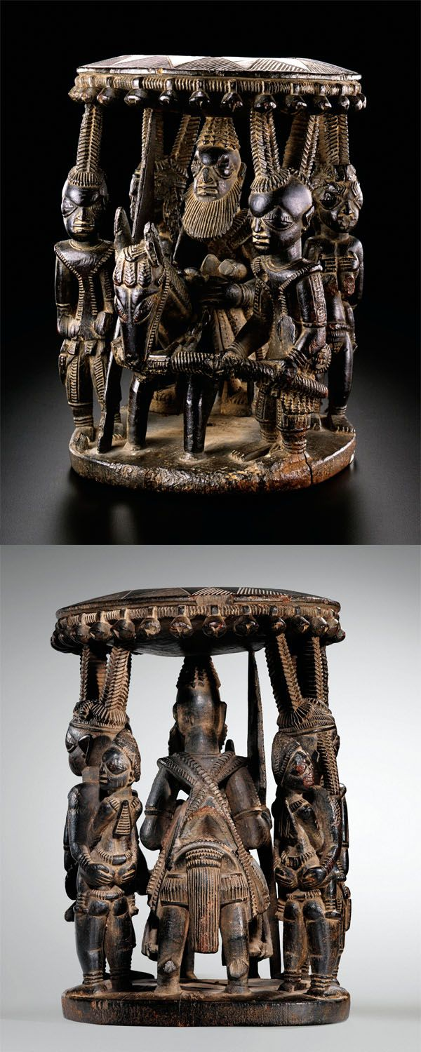 Africa | Royal bowl ~ ' Agere Ifa' ~ from the Yoruba people from the Egba region of southwestern Yorubaland, probably in the area of Abeokuta, Nigeria | ca. prior to 1868