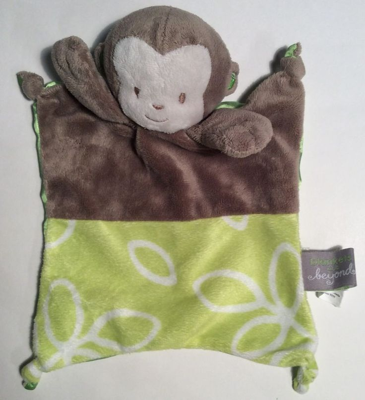 Details About Blankets Beyond Monkey Plush Velour Security