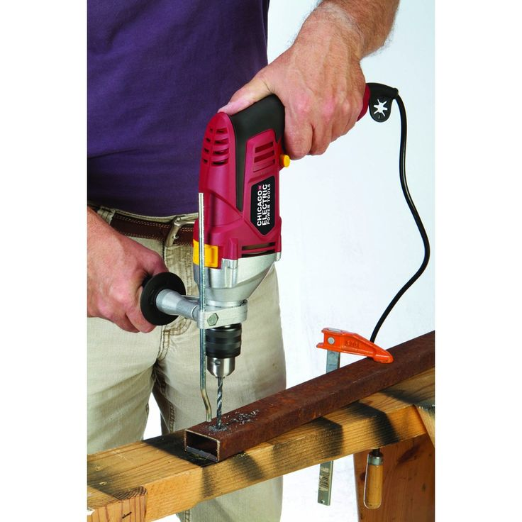 "Chicago Electric Power Tools 68169 1/2"" Professional Variable Speed Reversible Hammer Drill $31.99"