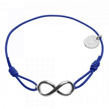 """Das Armband """"Forever Big"""" in Silber und Blau vom beliebten Hannoveraner Label Lua ist ein dezenter Blickfang für jeden Tag."""