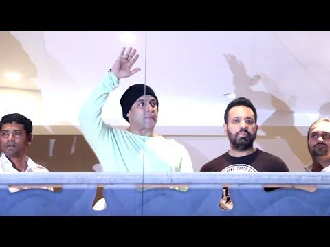 Salman Khan at Galaxy Apartment meets & greets his fans on EID 2016.