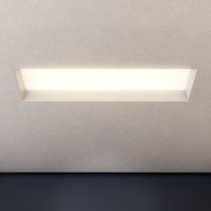 Silent P Rectangle is a plaster luminaire designed to be completely seamless once installed into a plaster ceiling. Features include a removable opal lens and integral driver. Please note, stopping up over gap and painting is required | http://www.darkon.com.au/product/silent-p-rectangle-led/