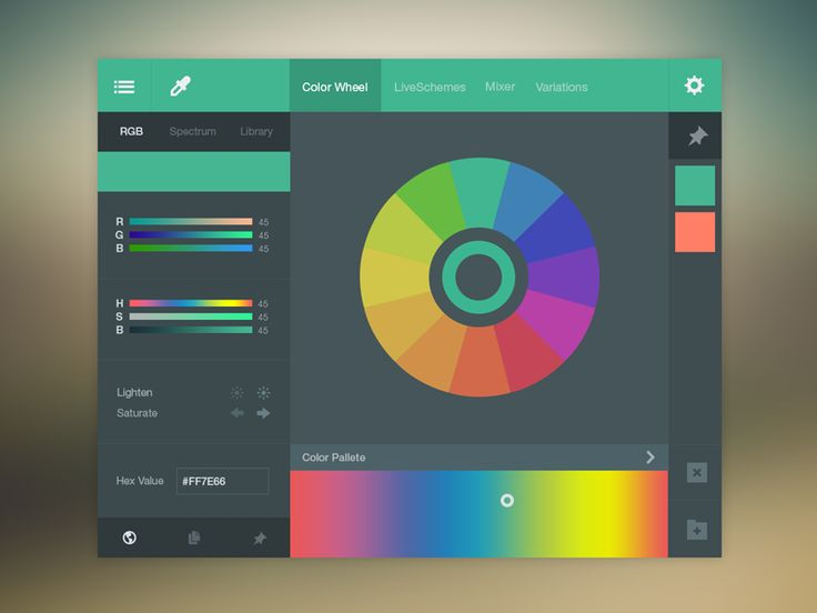 Color Picker UI (FREE PSD) by Bluroon (Flat & Filthy)