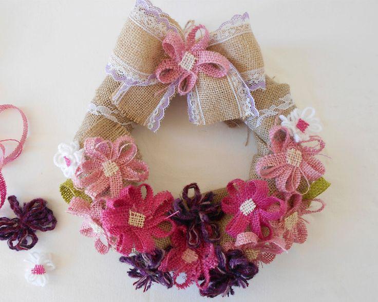 Spring Home Decor - Spring Wreath - Wedding Wreath - Spring Door Decor - Burlap Wreath - Wedding Decor - Gift for Mom - Art Fly Creations by ArtFlyCreations on Etsy