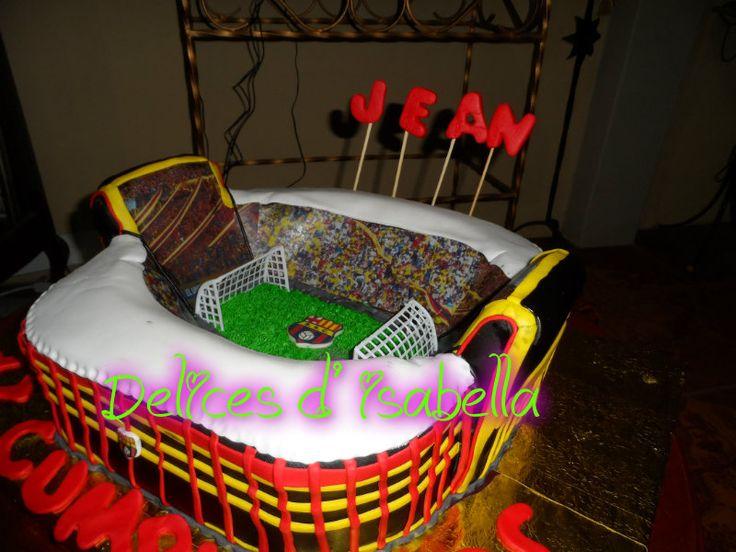 Torta estadio de barcelona ecuador dulzura hecho pastel - Decoracion infantil barcelona ...