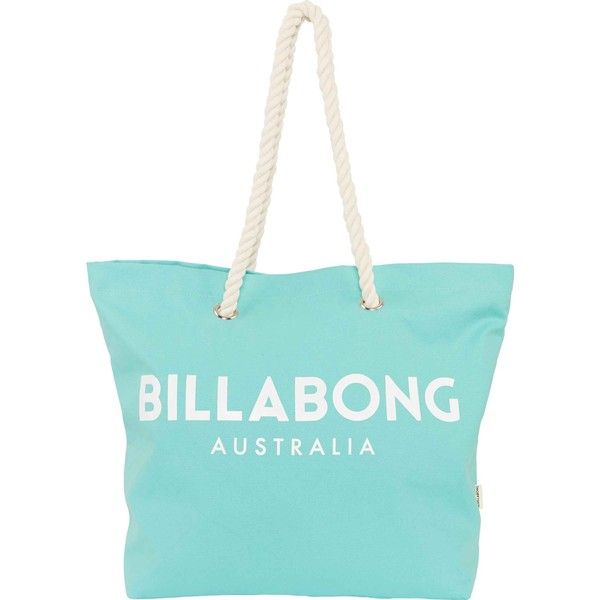 Essentials Tote (£28) ❤ liked on Polyvore featuring bags, handbags, tote bags, billabong tote, blue tote handbags, beach tote, logo tote bags and billabong handbags