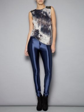 Glamorous Navy Disco pant legging Khaki - House of Fraser