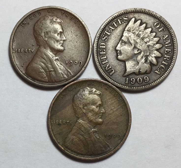 1909-VDB Lincoln, 1909 Lincoln and 1909 Indian Head cents. Beautiful coins!!!   eBay