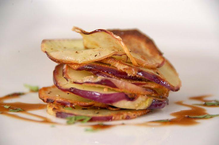 Purple kohlrabi chips! | Veggie Chips | Pinterest