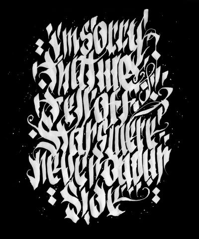 """Calligraphy No.1"" od GFKS. Skvělé! www.artsell.cz"
