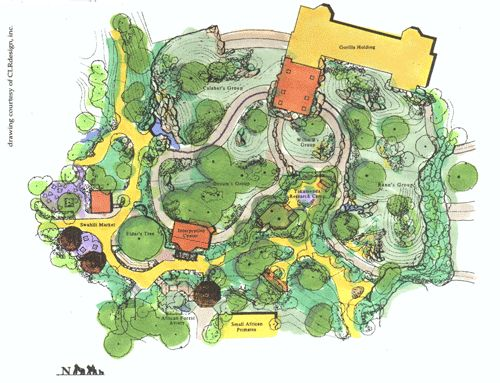Zoo Atlanta Gorilla Exhibit Site Plan Ursa International Zoo Design Pinterest Site