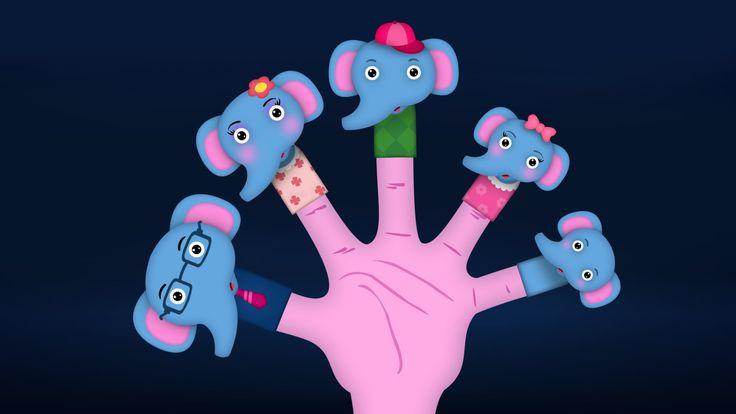 The Finger Family Elephant Family Nursery Rhyme | Elephant Finger Family...