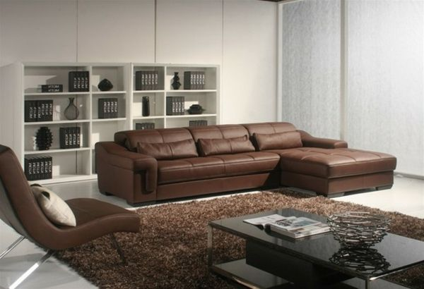 braunes ledersofa und brauner teppich wohnzimmer pinterest design. Black Bedroom Furniture Sets. Home Design Ideas