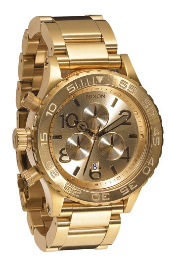 Nixon watch. I've been craving a chunky gold watch forever!