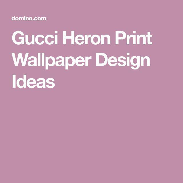 Heron Gucci Wallpaper 2019 Design Trend Print wallpaper