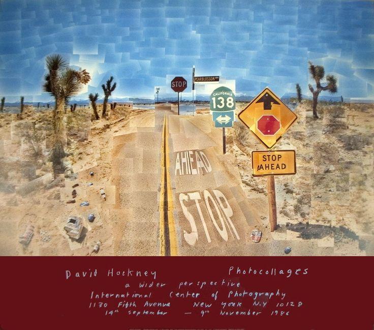 1986 David Hockney Pearblossom Highway Poster #PopArt
