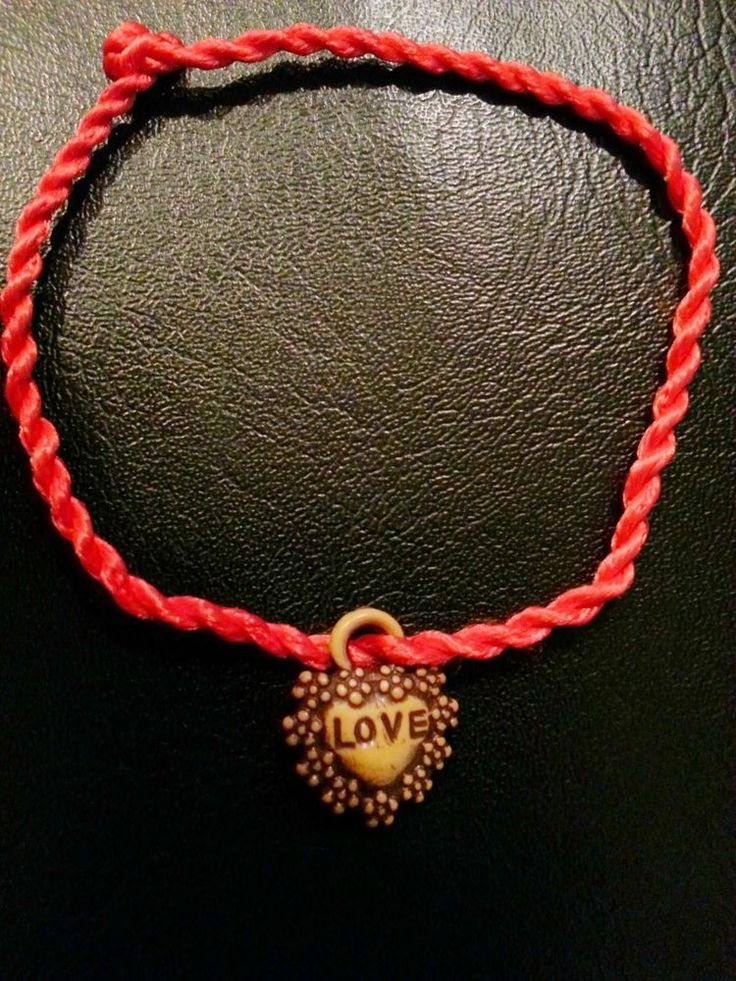 2 RED KABBALAH STRING BRACELETS, HEART OF LOVE, EVIL EYE LUCKY JEWELRY