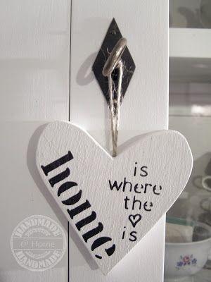 Heart/ houten hartje www.facebook.com/bizzyathome