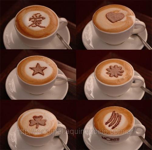 Estenciles para decoraci n de caf tortas etc venta for Tazas para cafe espresso