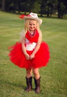Cowgirl tutu costume by Tutu Couture. Great for Halloween, dress up, pretend play and special gifts.