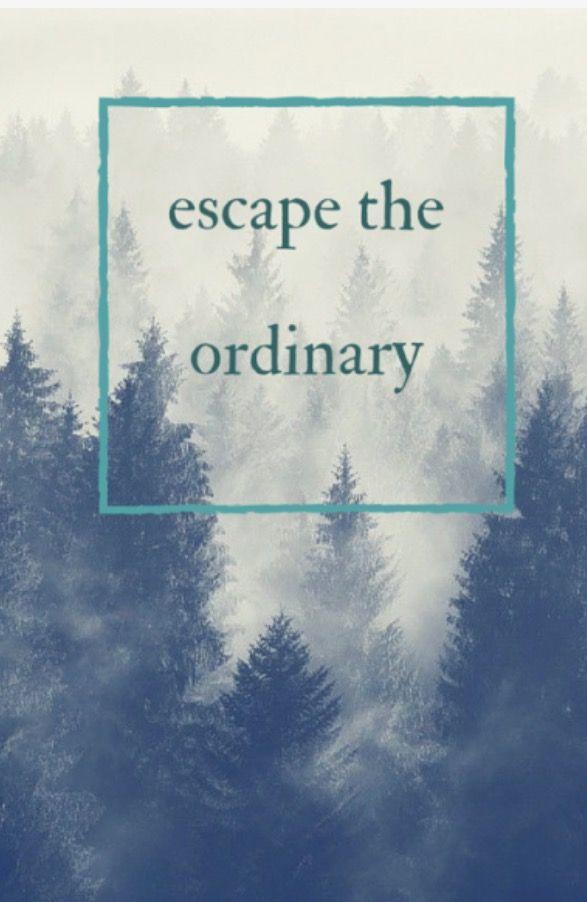 escape the ordinary. travel quote.