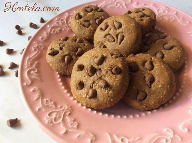 Cookies de chocolate sem glúten, sem lactose e saudáveis! Ficam deliciosos e crocantes!