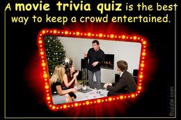 Movie trivia quiz to entertain a crowd