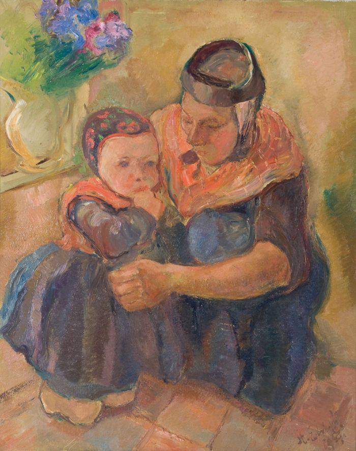 Staphorst. Stien Eelsingh, mother and child, 1959 - Stedelijk Museum Zwolle #Overijssel #Staphorst
