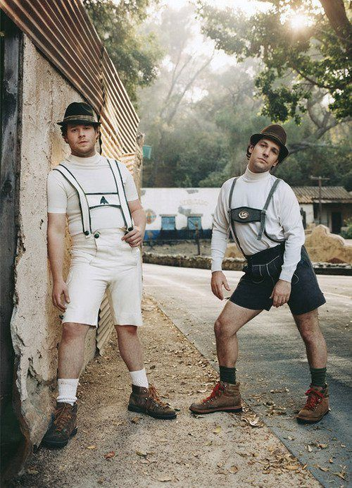 Seth Rogen and Paul Rudd doing... WTF?! (omg, I just snort laughed at this because it is so random)
