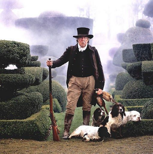 Wives & Daughters BBC - Michael Gambon as Squire Hamley out hunting with his dogs - Elizabeth Gaskell