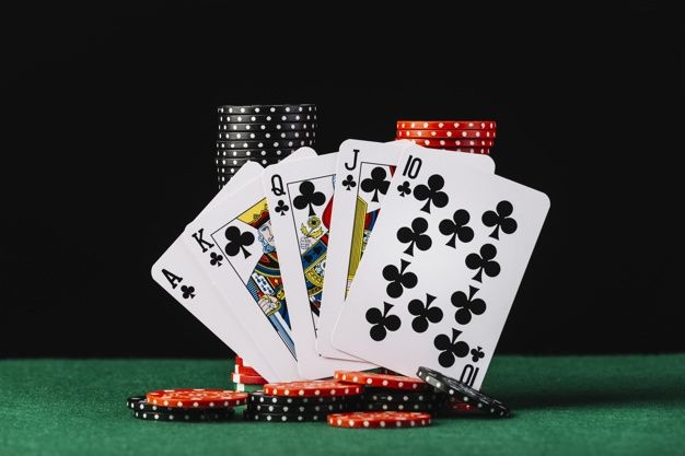 Casino Chips Stack And Royal Flush Playi Free Photo Freepik Freephoto Background Card Blue Background Mone Fichas De Poker Mesa De Poker Royal Flush