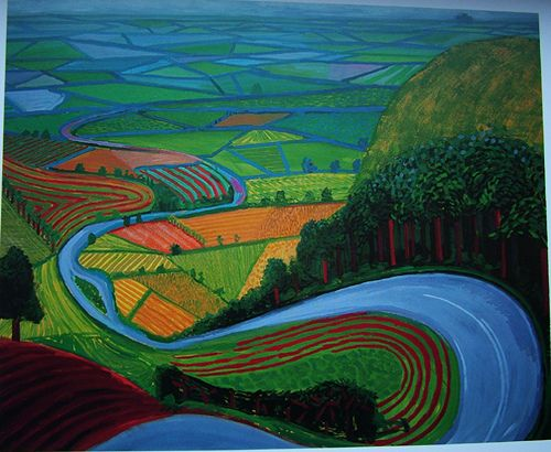 "David Hockney (English)  ""Garrowby Hill"", 1998"