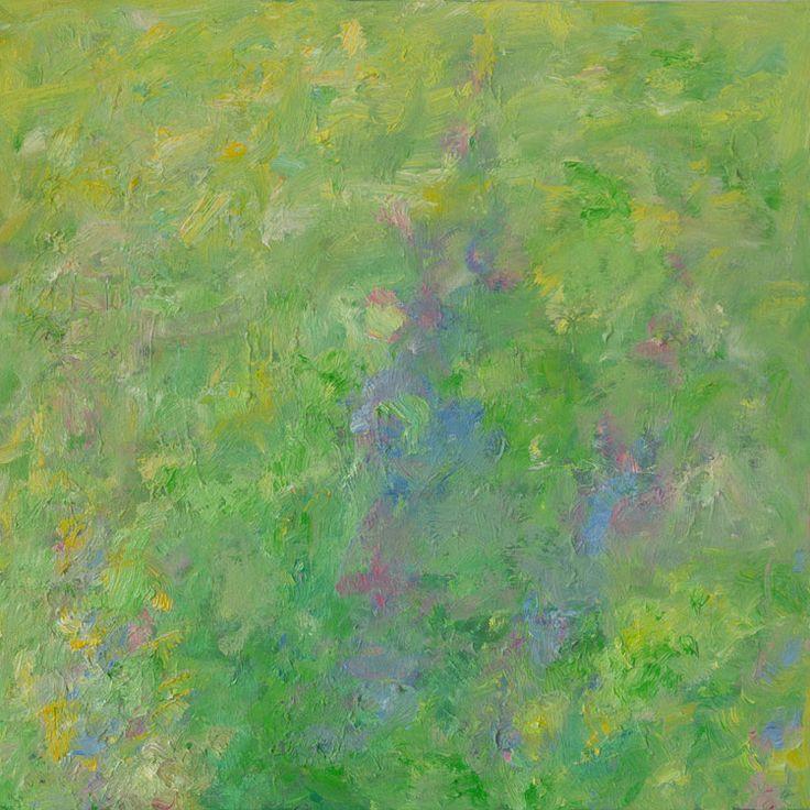 Rautio: Cow parsleys and lupins - koiranputkia ja lupiineja, 81x81 cm, oil on canvas, 2017.